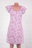 Яркая хлопковая ночная сорочка с цветочным принтом
