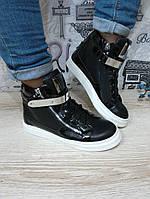 Модные молодежные оригинальные кеды , черные