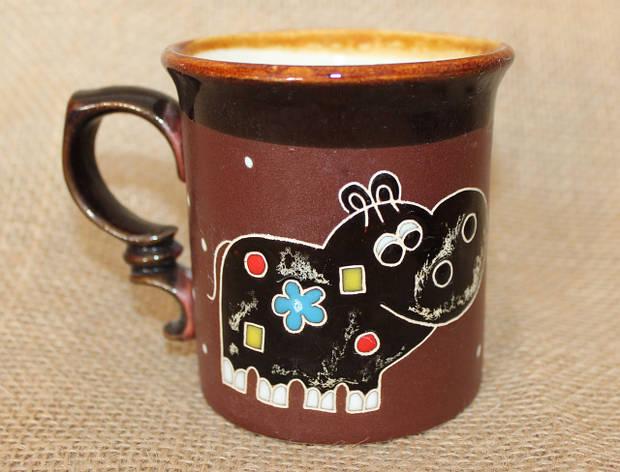 Чашка керамическая «Бегемот»