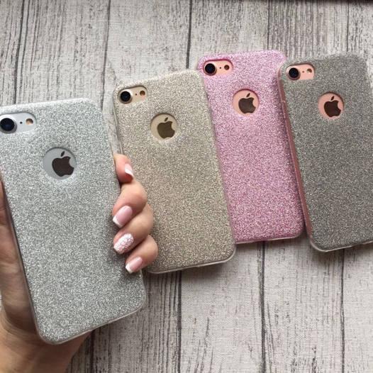 Чехол силиконовый блестящий на iPhone 7