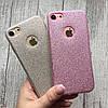 Чехол силиконовый блестящий на iPhone 7, фото 3