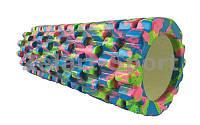 Роллер массажный (Grid Roller) для Йоги синий-салатовый