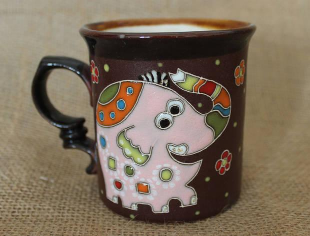 Чашка керамическая «Слон розовый»
