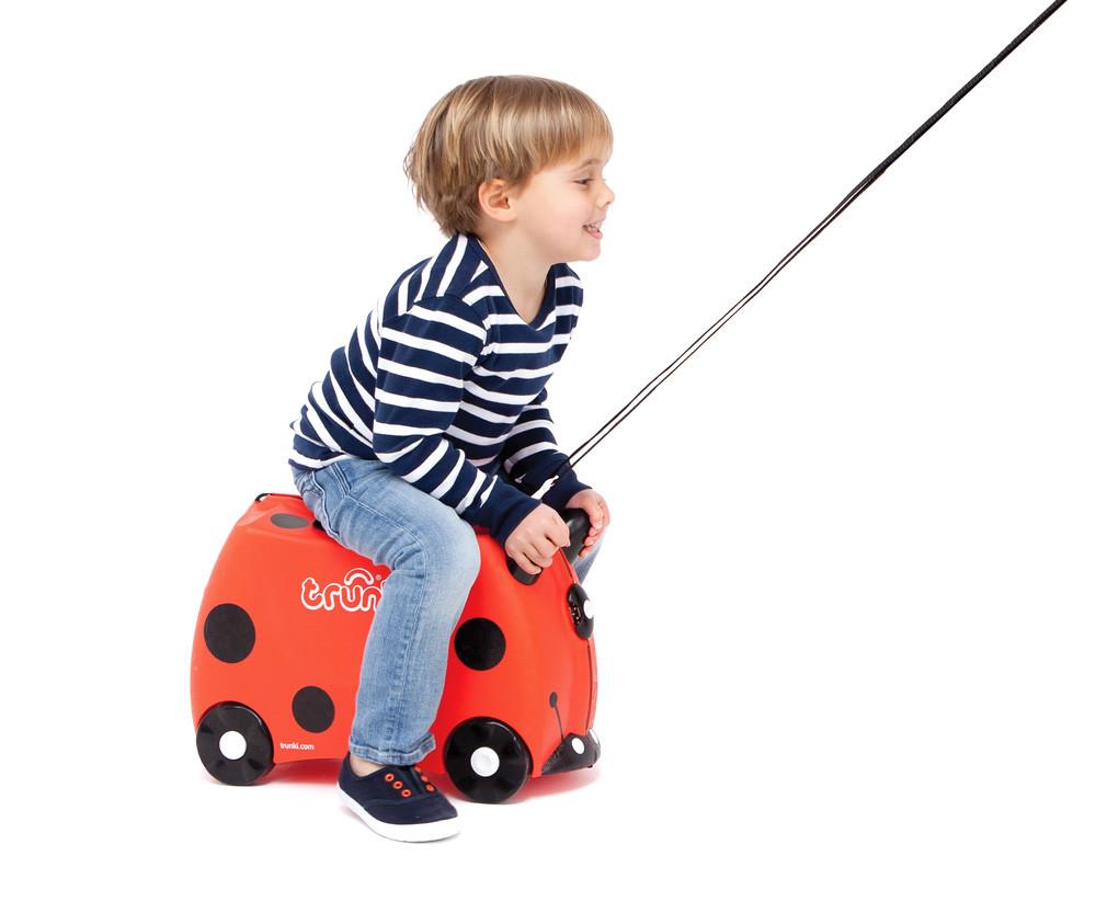 Детский чемоданчик на колесах TRUNKI LADYBUG HARLEY