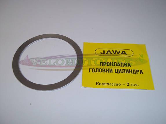 Прокладка головки цилиндра  ЯВА (6V,алюминий), фото 2