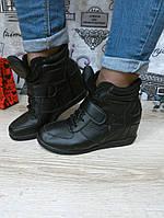 Модные стильные сникерсы , черные