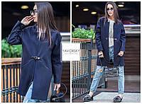 Демисезонное женское пальто  цвет синий