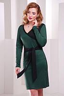 Темно-зеленое  женское  платье Nicole FashionUp 42-48  размеры