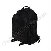 Тактический рюкзак 40 литров черный для военных, рыбалки, туризма кордура