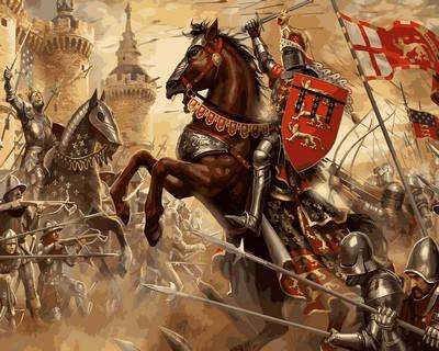 Набор-раскраска по номерам Сражение при Креси , фото 2