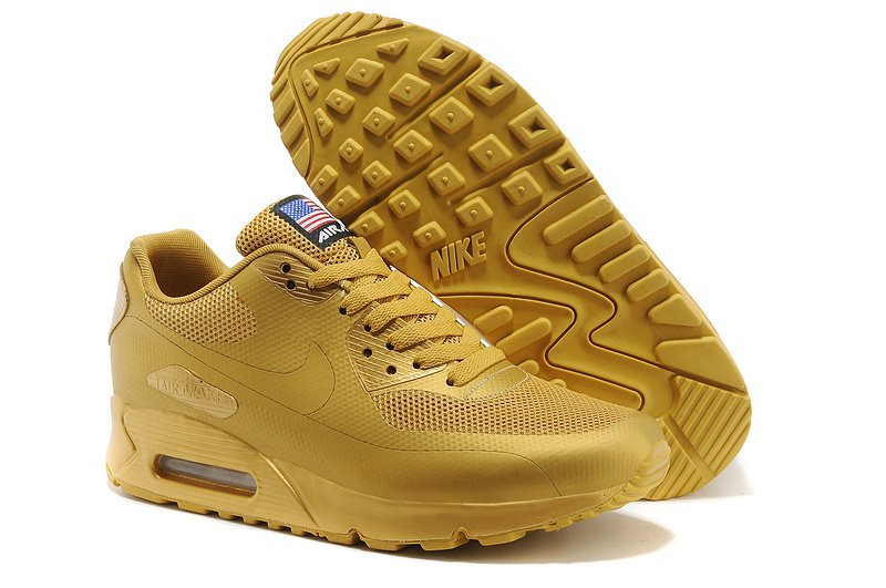 Nike Air Max 90 Hyperfuse Gold Independence Day (USA) | мужские кроссовки; золотые Bigl.ua