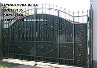 Кованые ворота с калиткой всередине 484