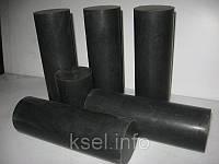 Стержни капролоновые графитонаполненные (черный капролон, черный полиамид), фото 1