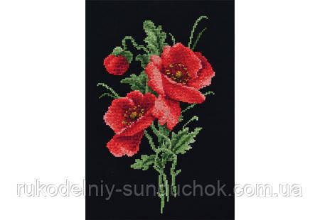 """Набор для вышивания крестом ТМ """"Повітруля"""" Красный букет  П6 021"""