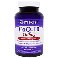 Коэнзим Q10 (убихинон) + витамин Е 100 мг 120 капс болезни сердца гипертония хроническая усталость MRM USA