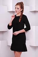 Черное женское платье Рюша FashionUp 42-48  размеры