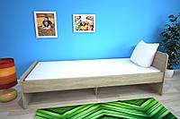 Кровать односпальная усиленная №2 , Детская мебель, фото 1