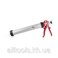 Пистолет для выдавливания силикона 600мл INTERTOOL HT-0026