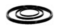 Уплотнитель резиновый для гофрированной канализационной системы труб InCor 200 мм