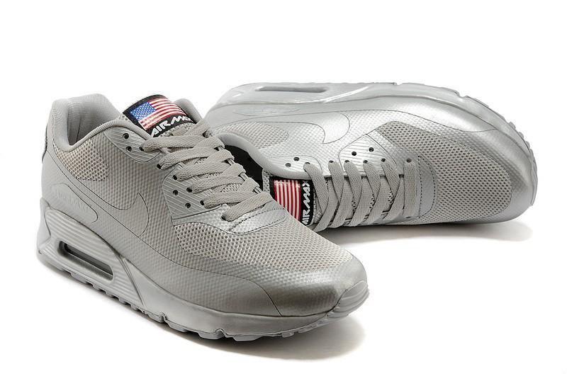 Nike Air Max 90 Hyperfuse Ash Grey Independence Day (USA) | мужские кроссовки; серыесеребристые