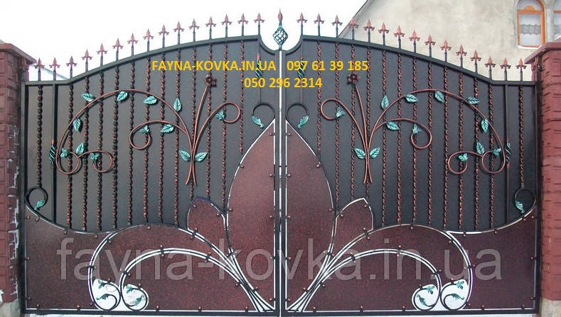 Кованые ворота 485