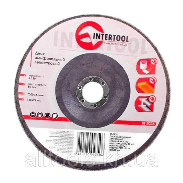 Диск шліфувальний пелюстковий INTERTOOL BT-0235