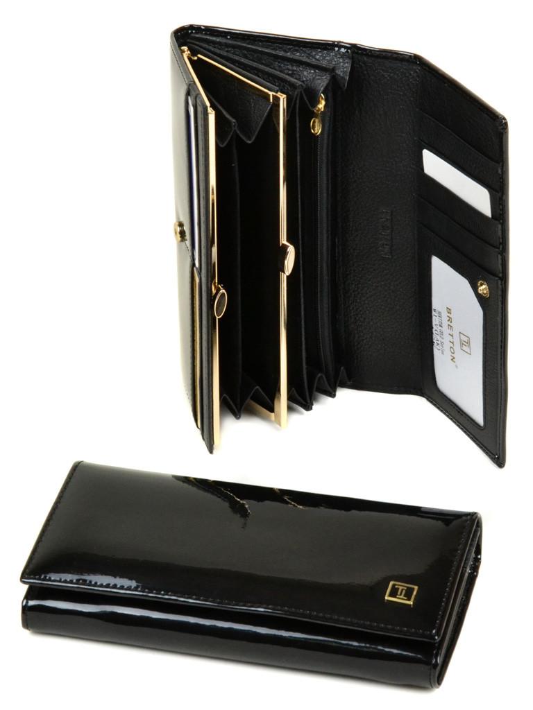 49786ad99a20 Кошелек женский кожаный черный Bretton Gold - Интернет магазин Старик  Хоттабыч в Киеве