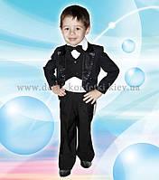 Черный смокинг для мальчика на выпускной