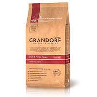 Grandorf Duck and Potato All Breeds (Grain Free) беззерновой сухой корм для взрослых собак всех пород с уткой и бататом, 1кг