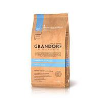 Grandorf White Fish and Rice All Breeds сухой корм для взрослых собак всех пород с белой рыбой и рисом, 1кг