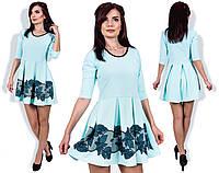 """Стильное молодежное платье мини """" Цветочные узоры """" Dress Code"""