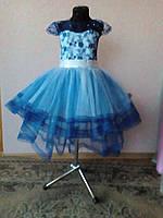 Нарядное пышное платье со шлейфом 3-7 лет