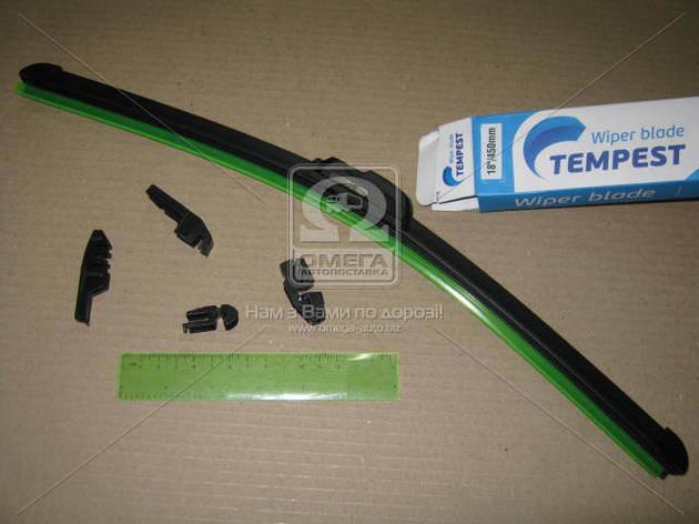 Щетка стеклоочистителя бескаркасная 18/450мм. (с адаптерами) Tempest, фото 2