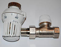 Клапан термостатический 15мм прямой Honeywell RTL