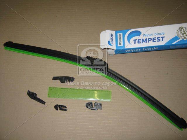 Щетка стеклоочистителя бескаркасная 20/500мм. (с адаптерами) Tempest