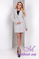 Эффектное женское пальто светло-серого цвета  (р. S, M, L) арт. Вейси шерсть №9 - 9299