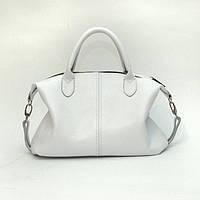 Кожаная сумка модель 20 белый флотар