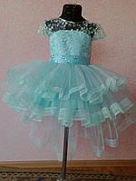 Ошатне пишну сукню зі шлейфом 3-7 років