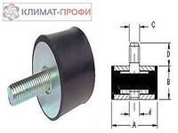 Резиновые виброопоры, тип БГ  100х50 60sh  М 16х47 мм