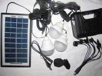 Солнечная домашняя аккумуляторная система GD-8033, 2*COB диоды на фонарике + 3W наклонный фонарь, 2*3W+2W LED 4,7м, 6500-7000К, 9V 3.5W Solar Panel