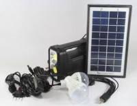 Солнечная домашняя аккумуляторная система GD-8038, 1W LED TORCH на фонарике , 4*3W LED 4,7м, 6500-7000К, 9V 3.5W Solar Panel