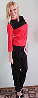 Женский костюм с брюками коралл, фото 1