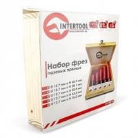 Intertool HT-0075 Набор фрез пазовых прямых,  5 шт
