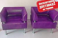 Кресло из кожзама для офиса Тонус фиолетовый, фото 1