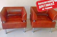 Кресло из кожзама для офиса Тонус красный, фото 1