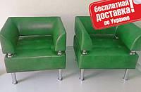 Кресло из кожзама для офиса Тонус зеленый, фото 1