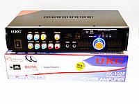 Усилитель звука UKC AK-102F + USB + КАРАОКЕ 2микрофона, фото 1
