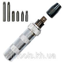 Отвертка ударная с комплектом насадок INTERTOOL HT-0430