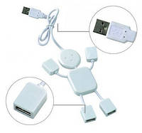 Разветвитель USB HUB S, usb человечек с разветвителем на 4 порта