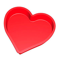 """Силиконовая форма для выпечки """"Сердце гладкое"""" 26,5 см"""